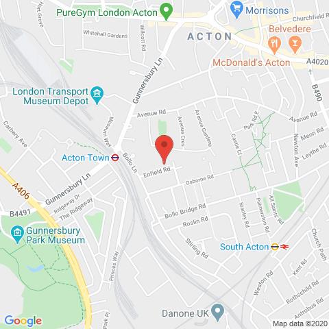 Acton Gardens - Hawthorn map
